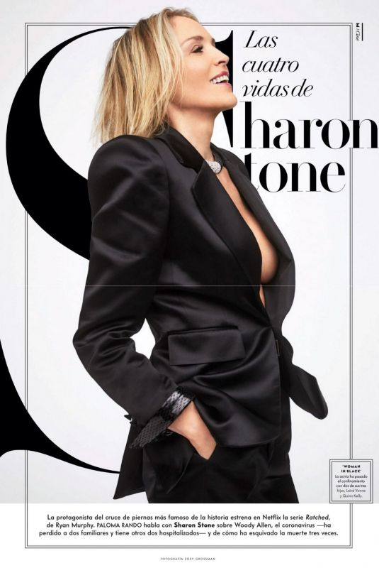 SHARON STONE in Vanity Fair Magazine, Spain October 2020