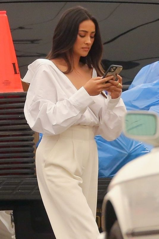 SHAY MITCHELL at a Set of Revlon Commercial in Los Angeles 09/10/2020