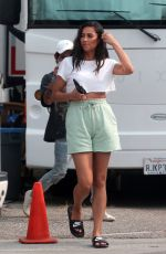 SHAY MITCHELL on the Set of Revlon Commercial in Los Angeles 09/09/2020