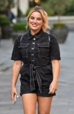SIAN WELBY Arrives at Capital Radio in London 09/17/2020