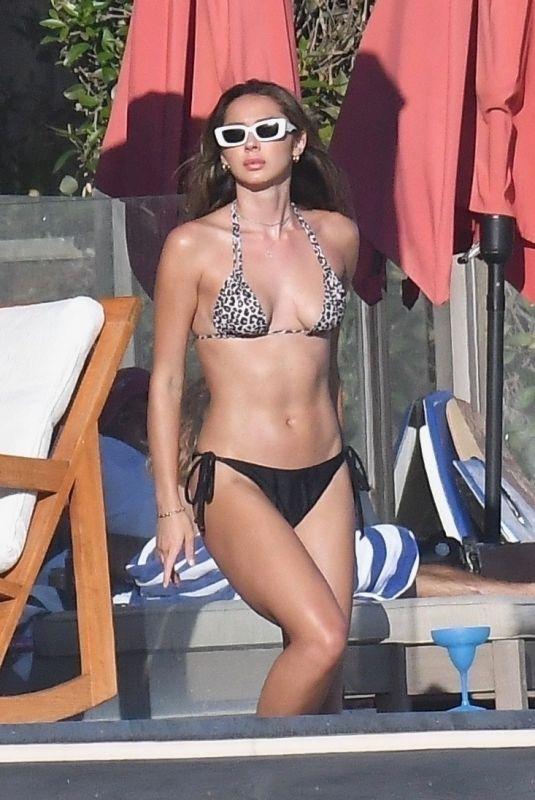 SISTINE ROSE STALLONE in Bikini at a Party at Beach House in Malibu 08/29/2020