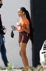 SKAI JACKSON Arriving at a Dance Studio in Los Angeles 09/16/2020