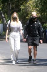 SOPHIE TURNER and Joe Jonas Out in Los Angeles 09/05/2020