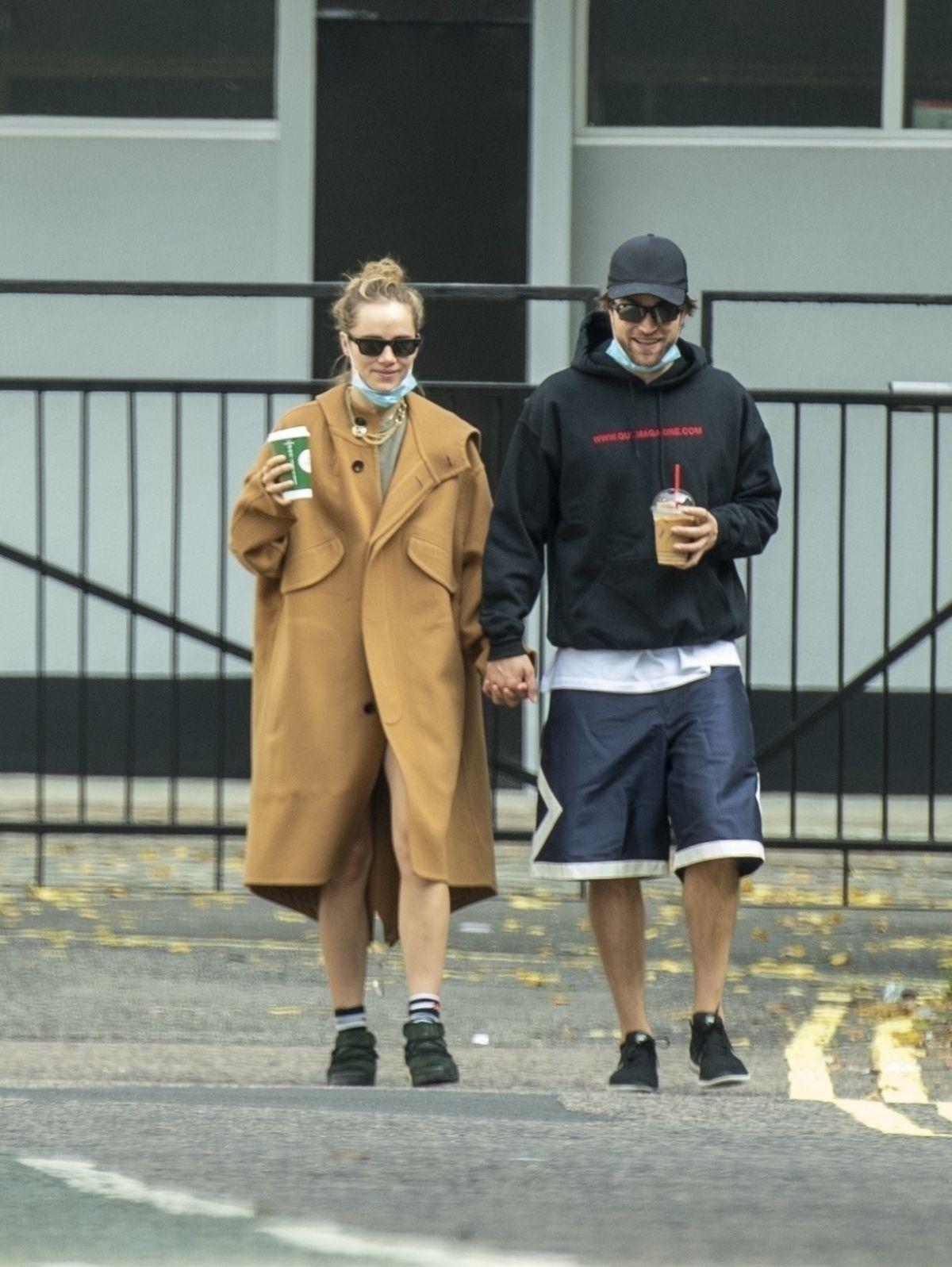SUKI WATERHOUSE and Robert Pattinson Out in London 09/16 ...