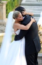 SYLVIE MEIS and Nicals Castello at Wdding Ceremony in Italy 09/19/2020