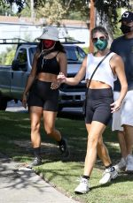 VANESSA HUDGENS and GG MAGREE Out Hikinig in Los Feliz 09/03/2020