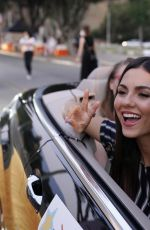 VICTORIA JUSTICE at 27th Annual Race to Erase MS: Drive-in at Rose Bowl in Pasadena 09/04/2020