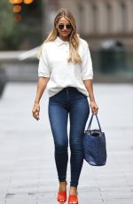 VOGUE WILLIAMS in Tight Denim Arrives at Heart Radio in London 09/27/2020