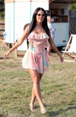 YAZMIN OUKHELLOU on the Set of The Only Way is Essex 09/15/2020