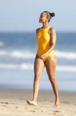 ZOE SALDANA in Swimsuit at a Beach in Malibu 09/06/2020