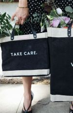 ABIGAIL SPENCER Promotes Her Own Design Bags 2020