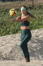 ALESSANDRA AMBROSIO at a Private Volleyball Class in Santa Monica 10/20/2020