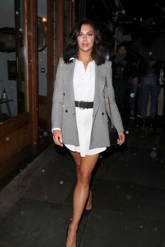 ALEXANDRA CANE Leaves Cecconi's in London 10/12/2020