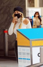 ALEXIS REN Casts Her Vote at a Ballot Box in West Hollywood 10/24/2020
