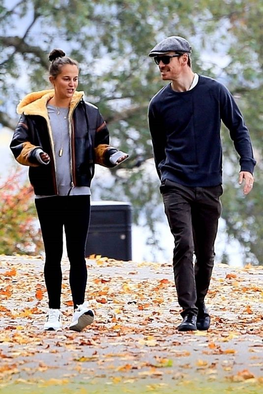 ALICIA VIKANDER and Michael Fassbender Out at a Park in Stockholm 10/03/2020