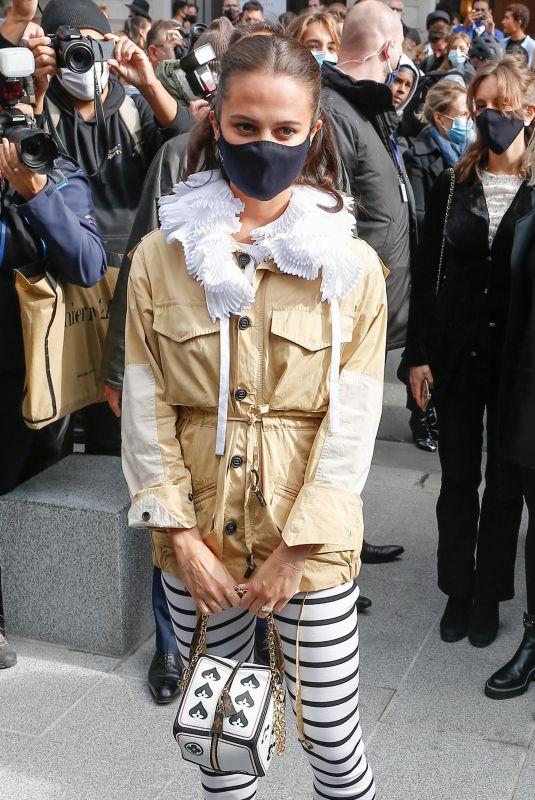 ALICIA VIKANDER Arrives at Louis Vuitton Fashion Show at PFW in Paris 10/06/2020
