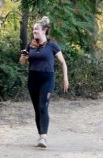 AMBER HEARD Out Hiking in Los Angeles 10/08/2020