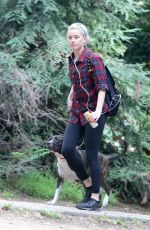 AMBER HEARD Out Hiking in Los Feliz 10/25/2020