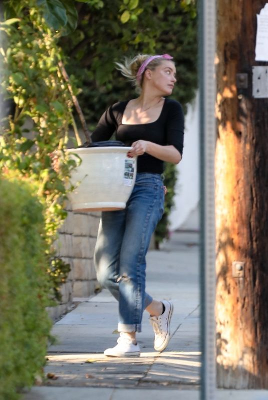 AMBER HEARD Out in Los Angeles 10/16/2020
