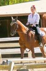 AMBER HEARD Riding a Horse Out in Los Angeles 10/13/2020