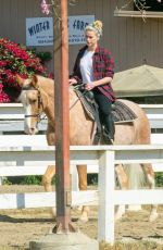 AMBER HEARD Riding Her Horse in Los Angeles 10/27/2020