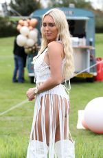 AMBER TURNER on the Set of The Only Way is Essex at Chlochella Festival in Essex 10/06/2020