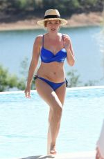 AMY HART in a Blue Bikini on Vacation in Portugal 10/04/2020
