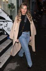 AMY HART Leaves George Vallossian Salon in London 10/15/2020