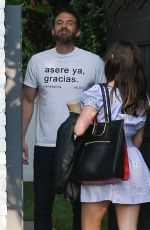 ANA DE ARMAS and Ben Affleck Outside Their Home in Pacific Palisades 10/15/2020