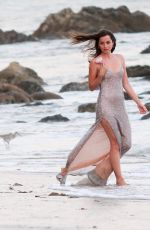 ANA DE ARMAS on the Set of a Perfume Commercial in Malibu 10/21/2020