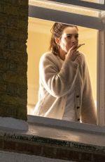 ANNE HATHAWAY on the Set of Lockdown in London 09/27/2020