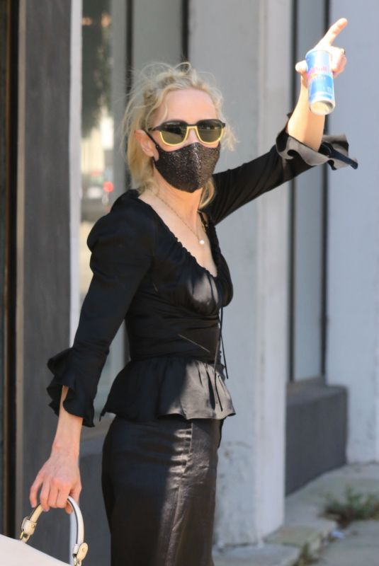 ANNE HECHE All in Black at DWTS Studio in Los Angeles 10/01/2020