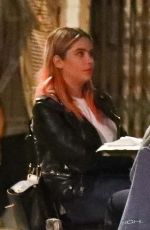 ASHLEY BENSON Out for Dinner in Los Angeles 10/21/2020