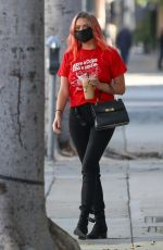 ASHLEY BENSON Out for Iced Coffee in Los Angeles 10/13/2020