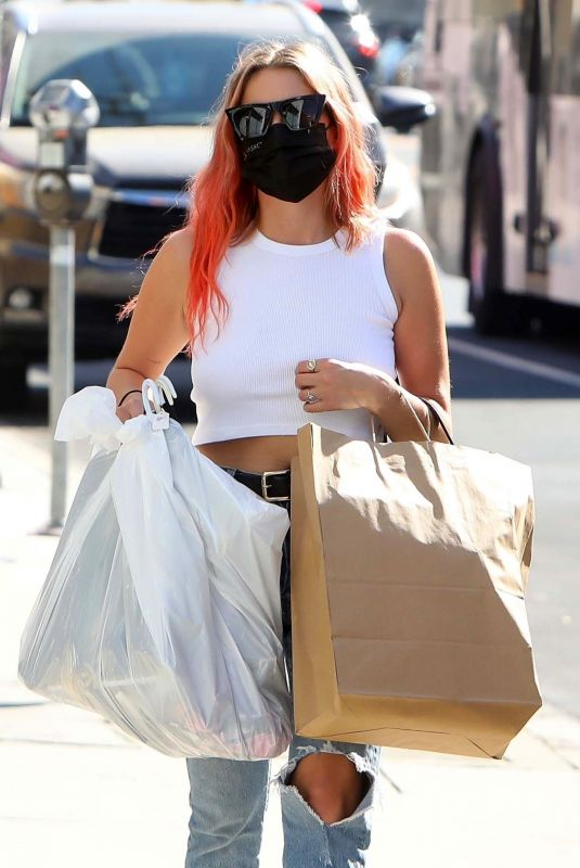 ASHLEY BENSON Out Shopping in West Hollywood 10/14/2020