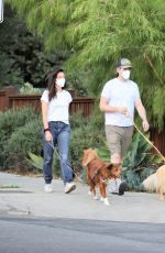 AUBREY PLAZA and Jeff Baena Out with Their Dogs in Los Feliz 10/14/2020