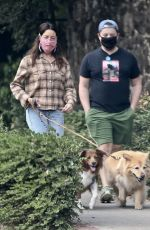 AUBREY PLAZA and Jeff Baena Out with Their Dogs in Los Feliz 10/24/2020