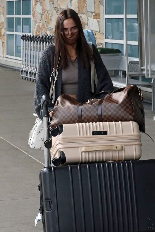 BAILEE MADISON Arrives at Airport in Vancouver 10/01/2020