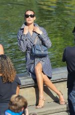 BELLA HADID at a Photoshoot in Central Park in New York 10/17/2020