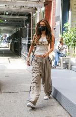 BELLA HADID Leaves a Hair Salon in New York 10/06/2020