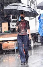 BELLA HADID on the Set of a Michael Kors Photoshoot in New York 10/17/2020