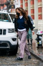 BELLA HADID Out in New York 10/29/2020