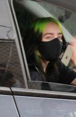 BILLIE EILIS Out After Her Virtual Concert in Los Angeles 10/24/2020