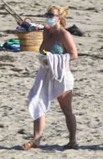 BRITNEY SPEARS in Bikini at a Beach in Malibu 10/15/20