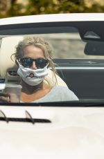 BROTNEY SPEARS Out Driving in Calabasas 09/08/2020