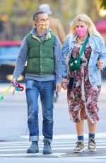 BUSY PHILIPPS and Marc Silverstein Out with Their Dog in New York 10/18/2020