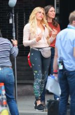 BUSY PHILIPPS on the Set of Girls5Eva in New York 10/22/2020