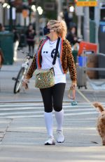 BUSY PHILIPPS Out with Her Dog in New York 10/05/2020