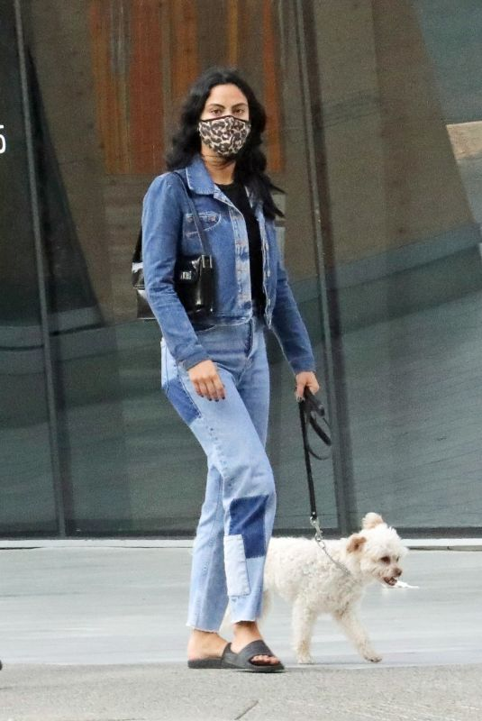CAMILA MENDES Out Walks with Her Dog in Vancouver 10/03/2020