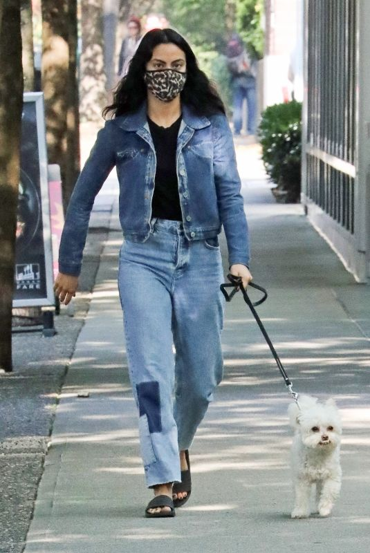 CAMILA MENDES Out with Her Dog in Vancouver 10/02/2020